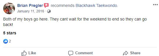 Afterschool2, Blackhawk TaeKwonDo Carpentersville