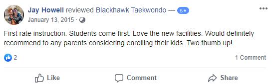 Afterschool4, Blackhawk TaeKwonDo Carpentersville